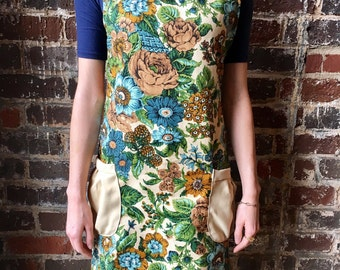 Handmade Smock/Apron/Apron Dress/Jumper from vintage and upcycled materials