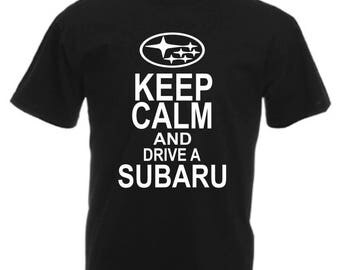 Keep Calm Subaru Funny T Shirt Novelty Slogan Birthday Xmas Gift Slogan Tee FREE UK POSTAGE Scooby Subby Impreza wrx sti