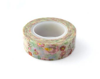 10 M Washi tape floral printed 15mm