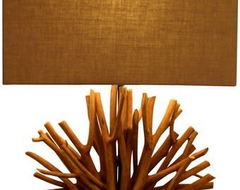 "Wood ""Natural Fan"" Lamp"