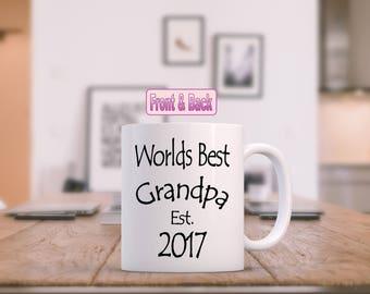 Personalized Grandpa mugs, pregnancy reveal mug, new grandparent mug, grandpa mugs, coffee grandpa gift, gift for grandpa, new grandpa, est