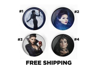 Once Upon A Time Evil Queen Regina Mills Inspired Pin Pinback Button Badge