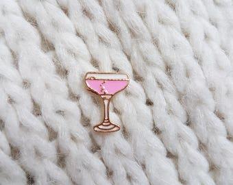 Enamel pin, badge, button, coktail, drink