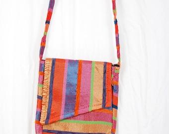 Small shoulder bag in fabric sabra