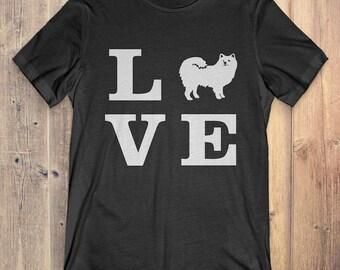 American Eskimo Dog T-Shirt Gift: I Love American Eskimo Dog
