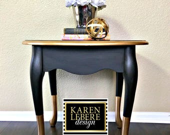 Black Gold Nightstand/Side Table/End Table