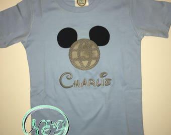 Epcot Mickey Mouse Applique Shirt