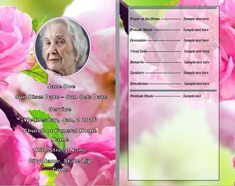 Funeral program Template | Obituary template | MS Word Template | Instant Download