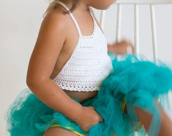 Crochet Baby Halter Top, Toddler Halter Top