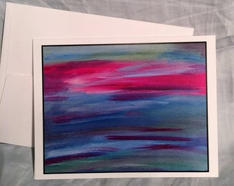 Note Card Abstract Sunset 1