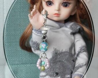 Sweet Little Thing — Beaded Zipper Charm, Key Chain Jewelry, Purse Charm, Lanyard Charm, Keychain