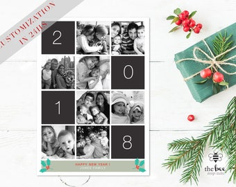 Family Christmas Card, New Years Customized in 24hs