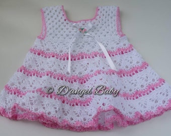 Pink and White Baby Dress