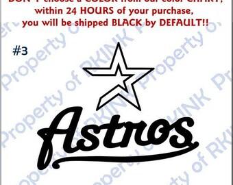 Houston Astros Decal Etsy - Vinyl decals houston tx