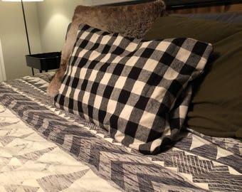 Plaid pillowcases
