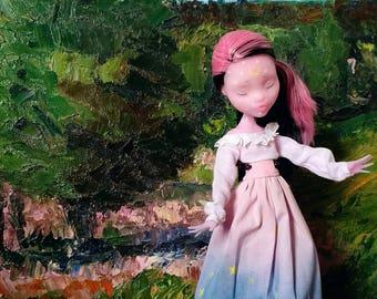 monster high repaint doll OOAK doll Draculaura