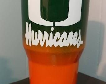 Miami Hurricanes Tumbler
