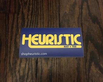 Yellow Heuristic Sticker