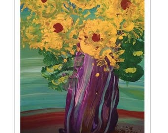 Yellow Flowers by The Artist Emma