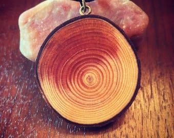 White Pine Tree Slice Necklace