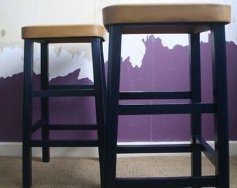 Refurbished Wooden stool x2
