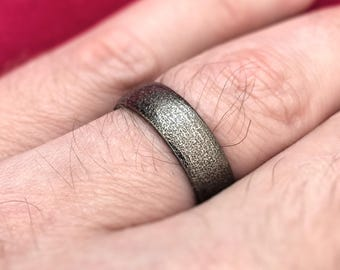 Men's Wedding Band Ring - 3D Printed in Stainless Steel - Soft Profile