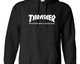 Thrasher Skater Magazine Skate Skateboard Hoodie Gift Unisex Souvenir