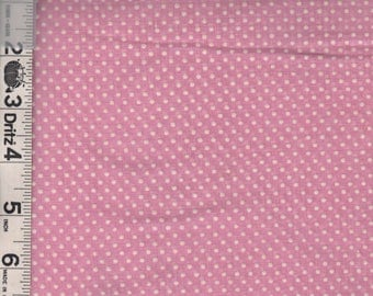Pink Dotted Swiss Fabric
