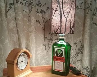 Jagermeister Glass Bottle Table lamp, Bedside or Desk Lamp great novelty gift