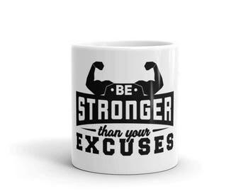 Motivational Coffee Mug - Gym Mug - Gym Gift - Motivation Gift - Fitness Mug - Workout Mug - Fitness Coffee Mug - Inspirational Mug - Hustle