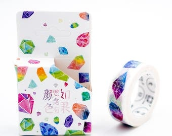 Diamond Washi Tape, crystal washi tape, Colorful Diamond Washi Tape, Colorful Gems Washi Tape, Journal Supplies,Scrapbook Tape