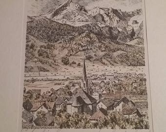 Vintage Print  Signed By Artists 10h x 10w