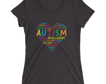 Autism Awareness Shirt Women - Autism Heart Shirt