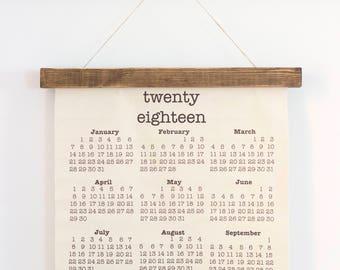 2018 Wall Calendar | 2018 Canvas Calendar | 2018 Farmhouse Calendar | Rustic Wall Hanging | Farmhouse Decor | Rustic Decor | Wall Hanging