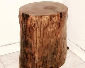 tree stump table | etsy