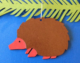 Hedgehog Christmas tree ornament