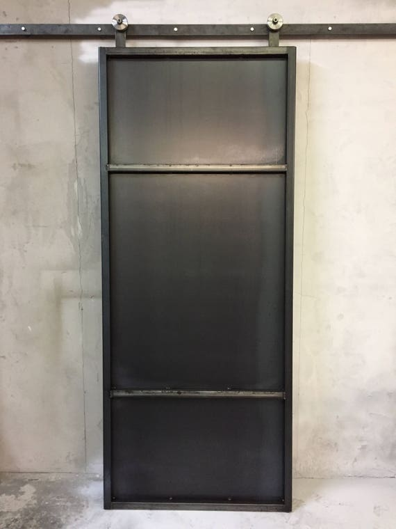 Industrial Metal Sliding Window : Industrial metal sliding barn door steel modern custom