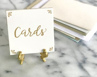 Card Sign - Gold - gift table sign