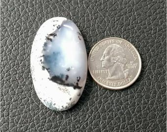 41.91 x 24.90 mm,Ovel Shape Dendritic Opal Cobochon/ AAA Dendritic Agate Cabochon /Merlinite Cabochon/ wire wrap stone/Super Shiny/ Cabochon