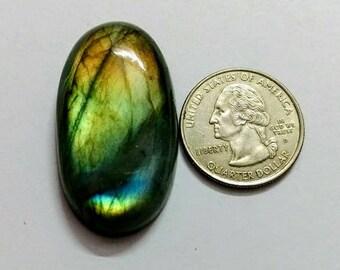 41.77 x 23.75 mm,Oval Shape Labradorite Cobochon/Green Flash/wire wrap stone/Super Shiny/Spectrolite Cabochon/Semi Precious Gemstone/labrado