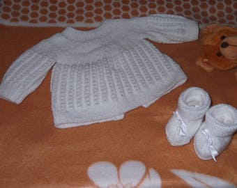 jacket and slippers 0/3 months