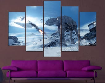 Star Wars Canvas Star Wars Empire Strikes Back Star Wars Canvas Art Star  Wars Print Star