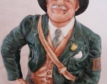 Vintage Royal Doulton Figurine Air Raid Precaution Warden HN4555 - Limited Etd - Perfect