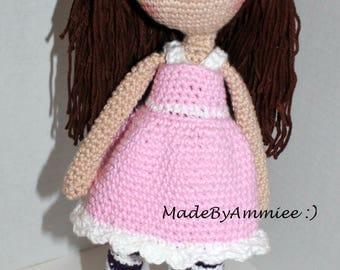 Crochet Personalized Amigurumi Girls/Toddler Doll. Baby Doll, Ragdoll, Toy