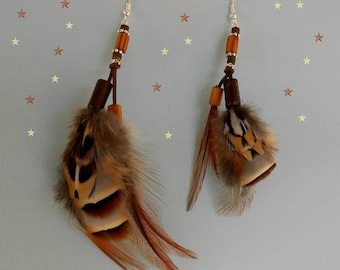 "Earrings feathers ""Alliance"""