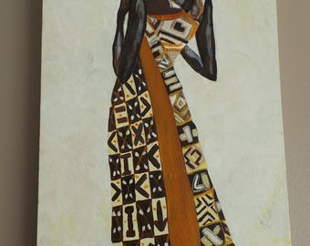 Painting of an African woman