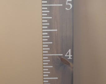 Vintage Wood Growth Chart Ruler