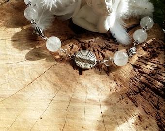 Bracelet en quartz clair et en quartz laiteux par AngelS SignS