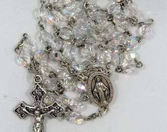 Faceted Crystal Rosary (#170810)