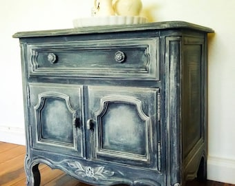 Nightstand, Pierre Deux Style Nightstand, French Provincial Nightstand/  Cabernet Classics Collection By Drexel